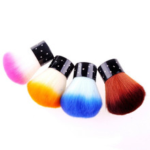 Random Color 1pc Soft Comfortable Nail Dust Brush UV Gel Nail Polish Nylon Brush Hair Nail air Pro brush  #08