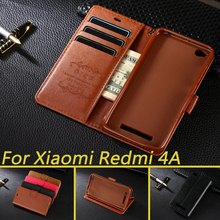 Case For Xiaomi Redmi 4A Luxury Wallet PU Leather Case Stand Flip Card Hold Phone Cover Bags For Xiaomi Redmi 4A(China)