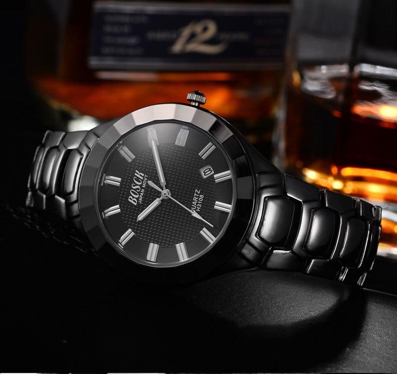 BOSCK 8123 Relogio Masculino Fashion Montre Homme Reloj Hombre Quartz-Watch men Watch Leather Wristwatches<br>