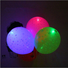 LED color light balloon All over the sky star light balloon Canvassing type Colorful light balloon Flashing balloon