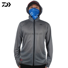 DAIWA DAWA  Fishing Clothing Clothes Breathable Sunscreen Shirt 2017 Men Quick Drying UPF 50+ Long Sleeve Hooded Fishing Shirts