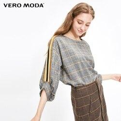 Vero Moda 2019 Новый Женский Хаундстут o-образным вырезом вязаный свитер клетчатый Анорак | 318330518