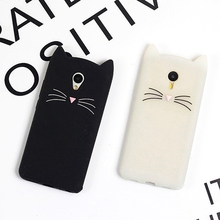 Fashion ultra slim soft silicone mobile phone case for Meizu M3 M3S mini M5S M5 Note MX6 3d cute cartoon kitten rubber cover