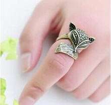 R161 Latest Fashion Retro Charm Enchanting Cute Little Fox Ring Jewelry Factory Direct