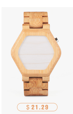 CnwinTech Bamboo Wood Watches Men Casual Clock - BOBO BIRD 11