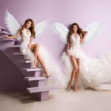 beautiful white angel feather wings Fashion feather accessories Wedding photo shoot Magazine shooting props EMS free shipping