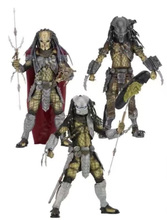 "3PCS/set  Predator VS Alien AVP Series 17 Serpent Hunter Alien Head Elder Predator Youngblood 7"" NECA Action Figure"