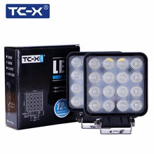 TC-X 48W Flood Square LED Work Light Bar Lamp For Car Offroad 4x4 ATV Truck Tractor SUV Vehicle 48w LED Work Light Flood 12 24V(China)