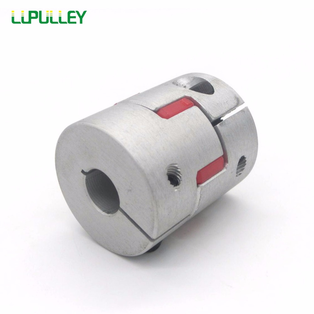 LUPULLEY 65mm*90mm Jaw Plum Coupling d1 to d2 12/14/15/16/17/18/19/20/22/24/25/28/30/32/35/38mm Shaft Coupler Connector Motor<br>