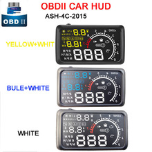 "3 color  5.5"" Head UP Display Overspeed KM/H Pro OBDII Car Styling ActiSafety 4C-2015 OBD II Car HUD Car Kit Fuel"