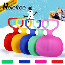 Relefree hot Outdoor Winter Plastic Skiing Boards Sled Luge Snow Grass Sand Board Sledge Ski Pad Snowboard For Kids/Adult(China)