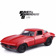 Wholesale JADA 1/32 Scale Car Toys Fast & Furious Letty's Chevy Corvette Diecast Metal Car Model Toy For Baby Gifts (6pcs/lot )