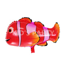 2pcs/lot Clown fish balloons nemo fish helium balloons animal shaped foil balloon gonflable animals toys for children decoration(China)