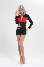 free shipping Miss Racer Racing Sport Driver Costume Super Car Grid Girl Fancy Dress Outfit sexy costume plus size m-3xl(China)