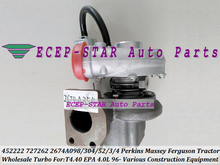 Free Ship GT2052S 452222 452222-0003 727262-0003 2674A353 2674A354 Turbo For Perkin Construction Massey Ferguson Tractor T4.40(China)