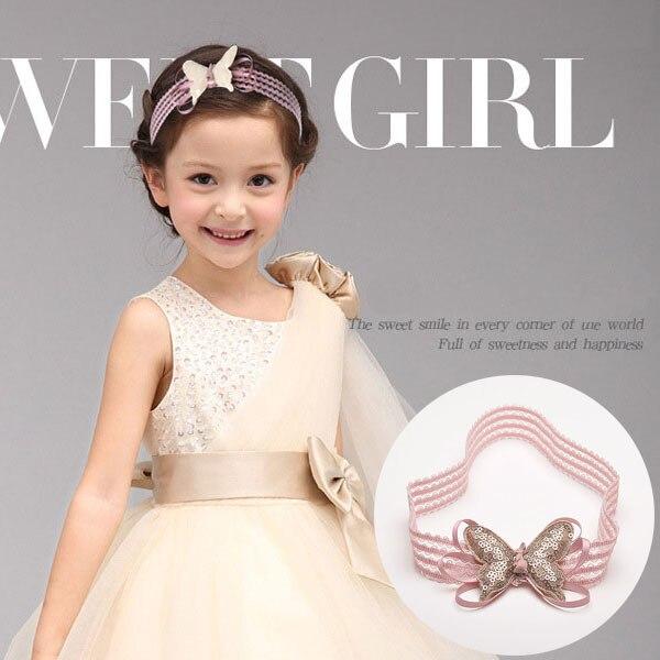 Baby Girl Kids Lace Crown Sequin Elastic Hair Band Headwear Headband Haeddress