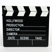 New Arrivel Classical Director Video Clapper Board Scene Clapperboard TV Movie Film Cut Prop Black Manual Craft