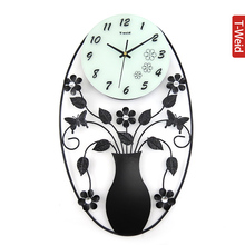 Wooden arch hammock wall clock mute wall clock and watch fashion rustic clock wrought iron wall clock fashion pocket watch
