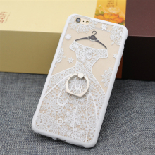 Soft TPU black lace wedding dress Coque phone font b case b font for font b