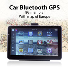 Bluetooth GPS Car Navigation 7 Inches EU Maps MP3 Player Bright LCD Screen
