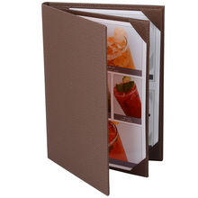30 pcs/lot PU Leather Restaurant Menu Covers Hotel Cafe Menu Folders Menu Holder Classic Style Wine List Folder Customized