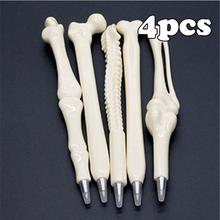 4Pcs Different Styles Creative Bone Pen Novelty Ballpoint Ballpen Bone Shaped Pen School Supplies Creative Stationery Writting