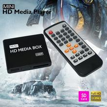 15PCS/lot Mini HDMI Media Player 1080P Full HD TV Video multimedia player box support MKV/RM-SD/USB/SDHC/MMC HDD-HDMI_DHL