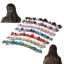 1 PC Women's Girls Korean Hair Clip Crystal Hair Bands Alloy Rhinestone headband Barrette Hairpin Hair Clip Hair Accessories Hot