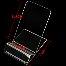 Universal Acrylic Cell phone mobile phone Display Stands Holder stand For iphone/samsung/HTC Clear Hard PC Plastic 200PCS