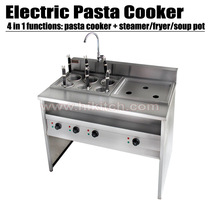 Electric pasta cooker commercial kitchen equipment stainless steel noddle cooker with bain marie.