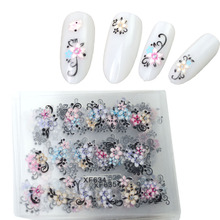 30sheets Nail Sticker 3d Designs Flower Women Lady Beauty Charm Decorations Nail Art Foils Decals DIY Tools XF627-650