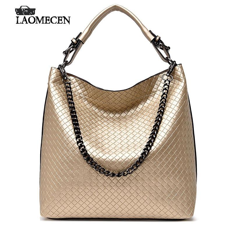 Women designer handbags high quality Bright Messenger Bags Weave Leather fending Handbags Tote sac a main femme de marque<br>