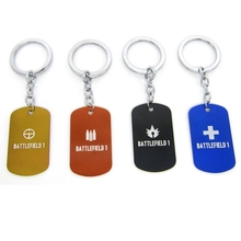 New Game Battlefield 1 Keychains BF1 Classes Support Assault Medic Scout Class Dog Tag Red Black Blue Pendant Jewelry for Fans