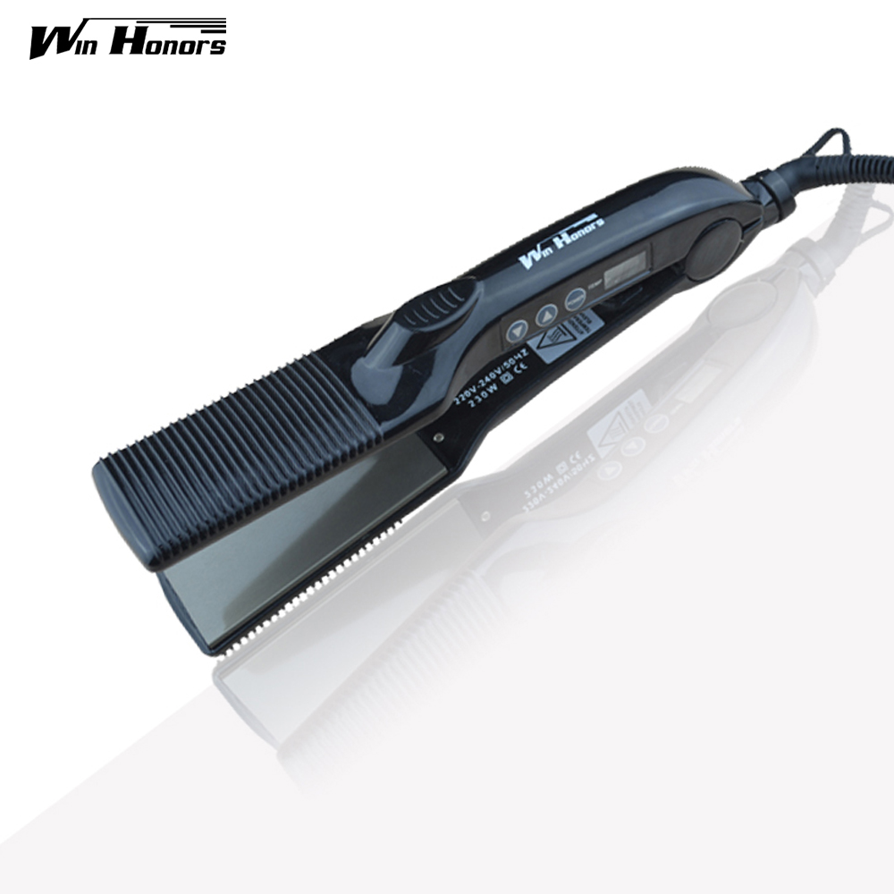 HOT Digital Hair Straightener Chapinha Titanium Profissional Hair Iron Flat Iron Beauty Styling Tools<br>