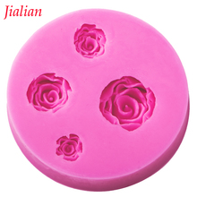 Jialian Roses silicone mould cooking tools wedding Fondant cake decoration Sugar Craft cake Decorating baking tools FT-0242
