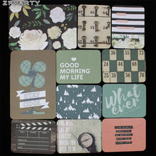 ZFPARTY 40pcs My Life Double-side Printed Cardstock Die Cuts for Scrapbooking Happy Planner/Card Making/Journaling Project(China)
