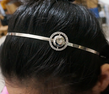 Fashion New Rhinestone Simple Beauty Snap metal headband fit 12MM DIIY snap buttons wholesale PJ0011