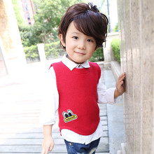 Baby Boy Sweaters 2016 Spring Autumn Cute Cartoon Eyes Knit Sweater Vest Cotton Casual Kid Crochet Cardigan Toddler Boy Clothing