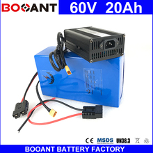BOOANT 60V 20AH 1400W made of high quality 18650 cell Electric Bicycle Battery 60V for Bafang 1400W Motor E-Bike Battery 20AH(China)