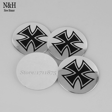 Wheel Center For Suzuki Toyota Infiniti Jaguar Porsche Renault Hub Caps 56.5mm Arc Surface Emblem Stickers For Cross Logo Badge