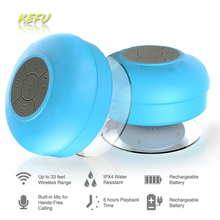 Mini Portable Subwoofer Shower Bathroom Waterproof Wireless Bluetooth Speaker Car Handsfree Receive Call Music Suction Mic