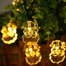 6.4M Solar Powered Waterproof 30 LED Santa Claus String Lamp for Home Yard Window Tree Road Holiday Party Christmas Decoration(China)