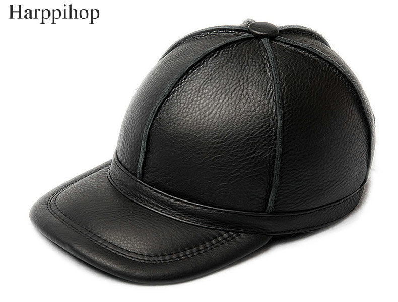 100% cowhide genuine leather hats  2017 new arrival caps New Mens Womens  cow Leather Golf Hat / Baseball Cap Free shipping<br>