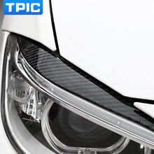 Carbon Fiber Headlights Eyebrows Eyelids for BMW F30 320i 325i 316i Front Headlamp Eyebrows 3 series accessories(China)