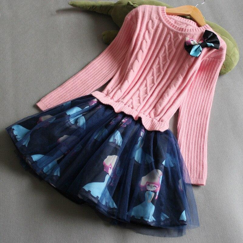 Girls dress Kids clothes Dress girl Robe fille enfant Winter girl dress Vetement enfant fille Vestidos Roupas infantis menina<br>