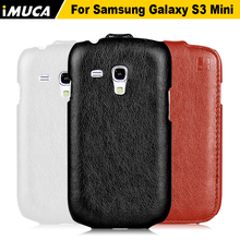 iMUCA Case For Samsung Glaxy S3 Mini Case Luxury PU Leather Flip Case Back Cover For Samsung Galaxy S3 Mini I8190 Phone Cases(China)