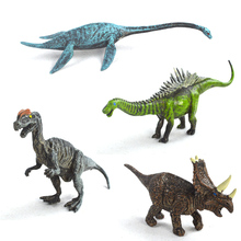 Dinosaurs Model Set 4 Pieces Cute Plastic Static Animals Decoration Gifts Toys Kids Small Jurassic World(China)