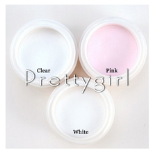 New Clear Pink White MIX Colors Nail Art Acrylic Powder Crystal Nail Polymer