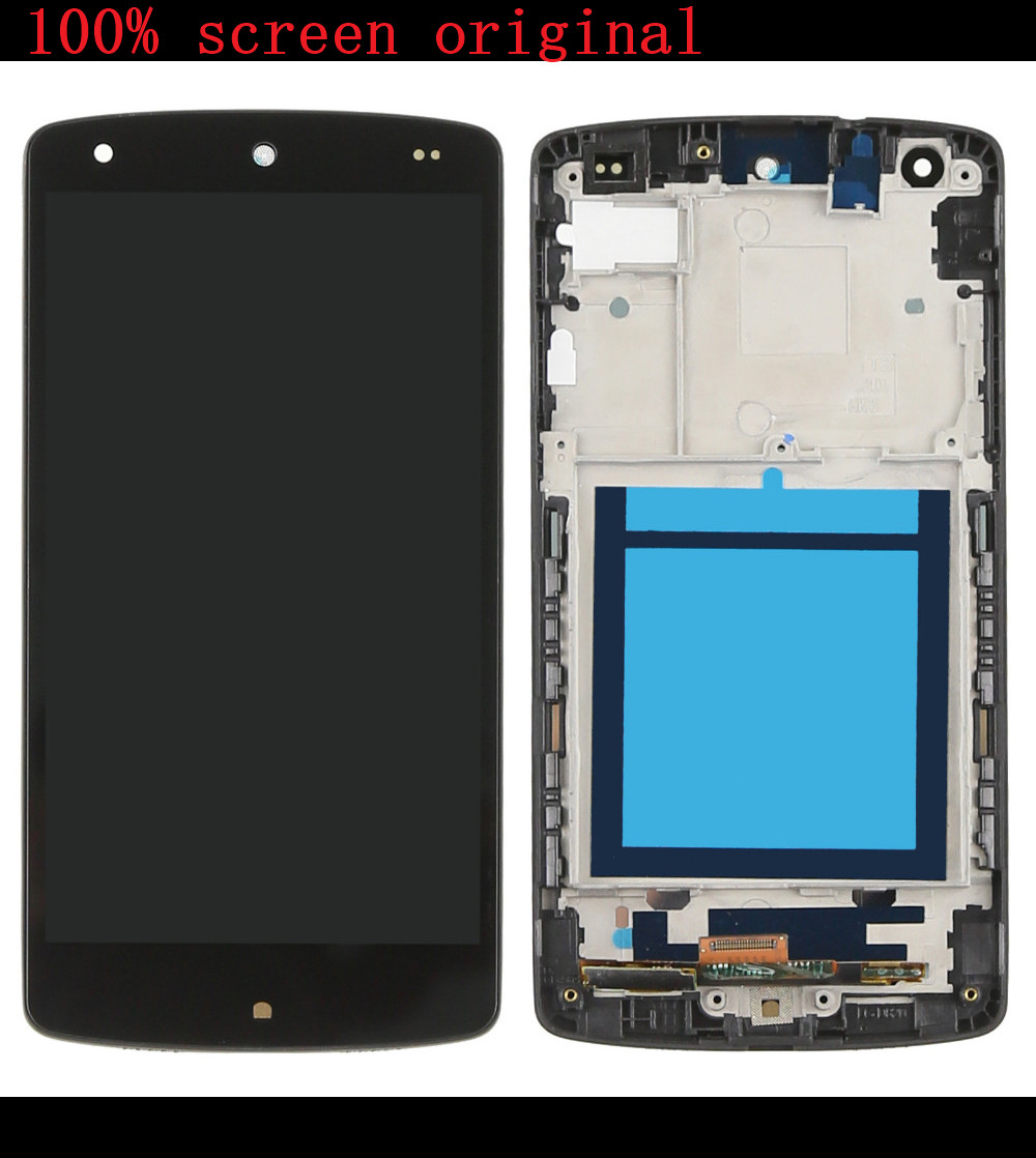 For LG Google Nexus 5 D820 D821 LCD Display Touch Screen Digitizer Assembly With Frame   Assembly<br><br>Aliexpress
