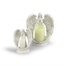 European Style Home Decoration Wedding Church Angel Fairy Candle Holders Electronic Candlestick Candler